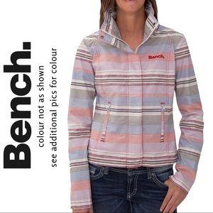 Bench BBQ Jacket Zipper Snap Front Pastel Stripe